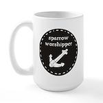 Sparrow Worshipper (circular) Large Mug