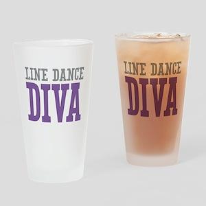 Line Dance DIVA Drinking Glass
