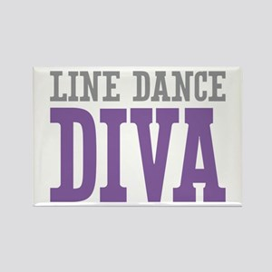 Line Dance DIVA Rectangle Magnet