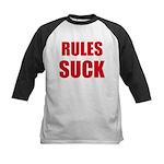 RULES SUCK Kids Baseball Jersey