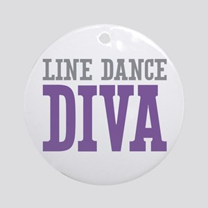 Line Dance DIVA Ornament (Round)