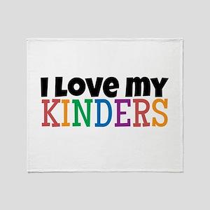 Love My Kinders Throw Blanket