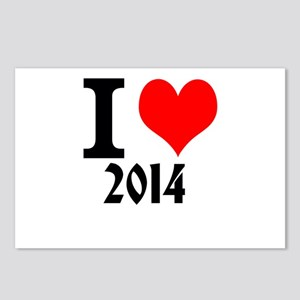 I LOVE 2014 Postcards (Package of 8)