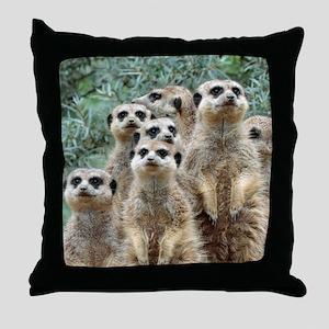 Meerkat012 Throw Pillow