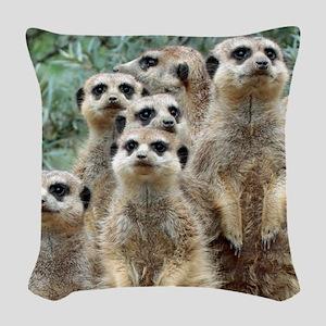 Meerkat012 Woven Throw Pillow