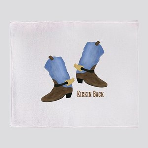 Personalized Cowboy Boots Throw Blanket