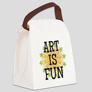 Art is Fun Canvas Lunch Bag