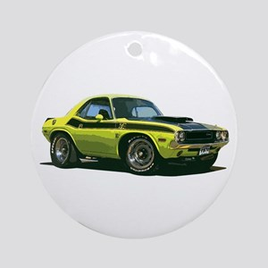 BabyAmericanMuscleCar_70CHLGR_Yellow Ornament (Rou