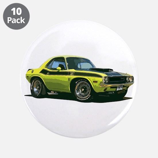 "BabyAmericanMuscleCar_70CHLGR_Yellow 3.5"" Button ("