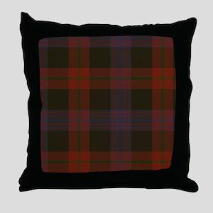Brown Tartan Throw Pillow