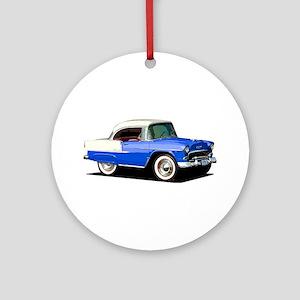 BabyAmericanMuscleCar_55BelR_Xmas_Blue Ornament (R