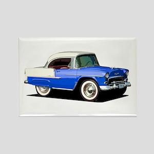 BabyAmericanMuscleCar_55BelR_Xmas_Blue Magnets