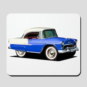 BabyAmericanMuscleCar_55BelR_Xmas_Blue Mousepad