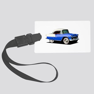 BabyAmericanMuscleCar_55BelR_Xmas_Blue Luggage Tag