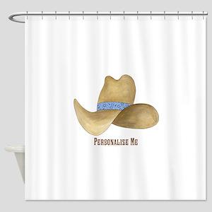 Cowboy Hat Shower Curtain