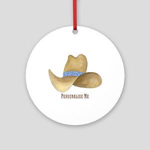 Cowboy Hat Ornament (Round)