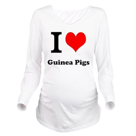 I love guinea pigs Long Sleeve Maternity T-Shirt