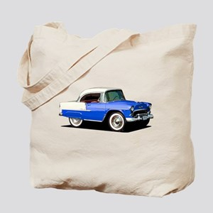 BabyAmericanMuscleCar_55BelR_Xmas_Blue Tote Bag