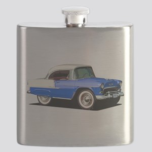 BabyAmericanMuscleCar_55BelR_Xmas_Blue Flask