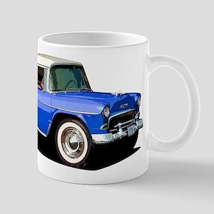 BabyAmericanMuscleCar_55BelR_Xmas_Blue Mugs