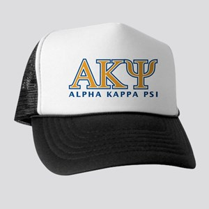 Alpha Kappa Psi Letters Trucker Hat