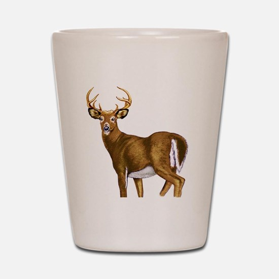 White Tail Deer Buck Shot Glass