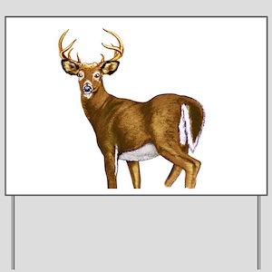 White Tail Deer Buck Yard Sign
