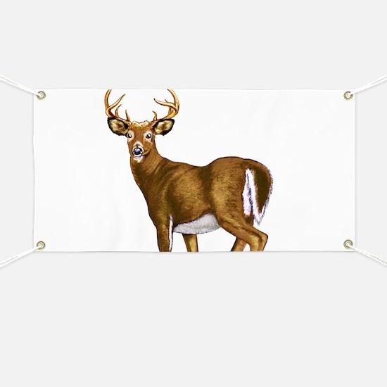 White Tail Deer Buck Banner