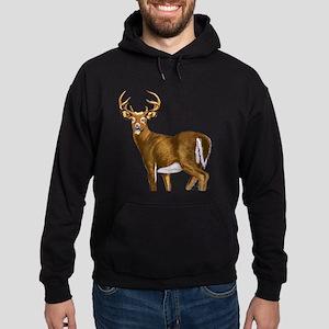 White Tail Deer Buck Hoodie (dark)