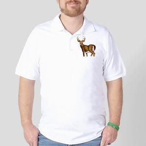 White Tail Deer Buck Golf Shirt