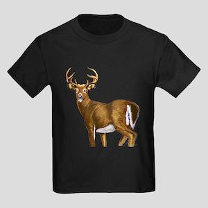 White Tail Deer Buck Kids Dark T-Shirt