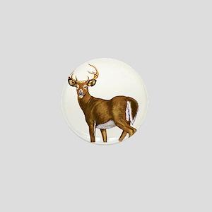 White Tail Deer Buck Mini Button