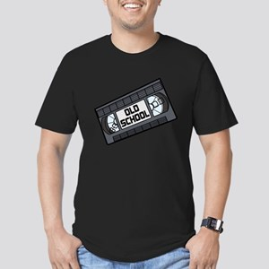 Old School VHS Tape Men's Fitted T-Shirt (dark)