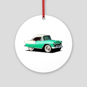 BabyAmericanMuscleCar_55BelR_Xmas_Green Ornament (