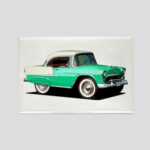 BabyAmericanMuscleCar_55BelR_Xmas_Green Magnets