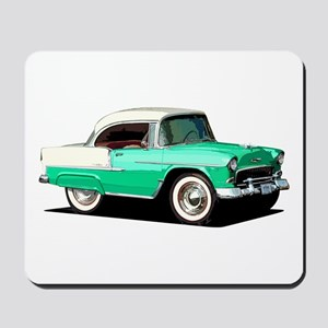 BabyAmericanMuscleCar_55BelR_Xmas_Green Mousepad
