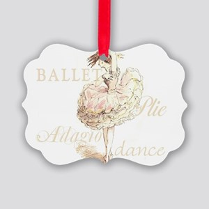 sweet ballerina  Picture Ornament