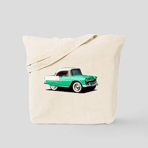 BabyAmericanMuscleCar_55BelR_Xmas_Green Tote Bag