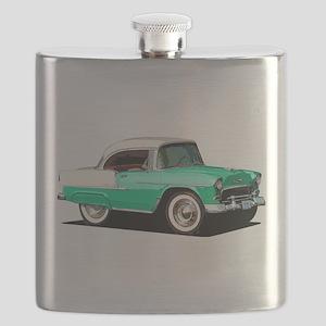 BabyAmericanMuscleCar_55BelR_Xmas_Green Flask