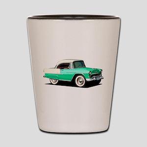 BabyAmericanMuscleCar_55BelR_Xmas_Green Shot Glass
