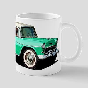 BabyAmericanMuscleCar_55BelR_Xmas_Green Mugs