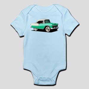 BabyAmericanMuscleCar_55BelR_Xmas_Green Body Suit