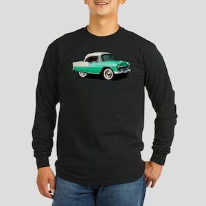 BabyAmericanMuscleCar_55BelR_Xmas_Green Long Sleev