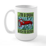 Squid with no Ocean Large Mug