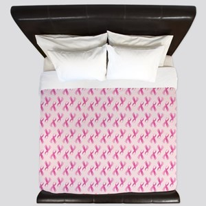 Breast Cancer Pink Ribbon King Duvet