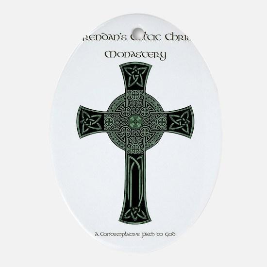 St. Brendan's Celtic Christian Monas Oval Ornament