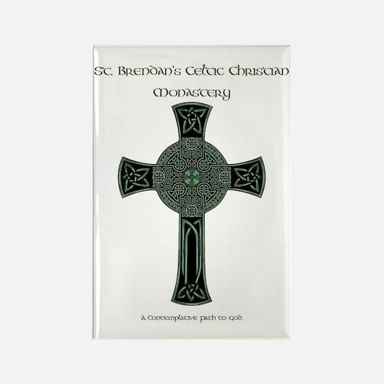 St. Brendan's Celtic Christian Mo Rectangle Magnet