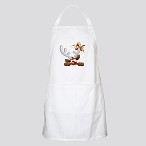 Funny Christmas Reindeer Cartoon Apron