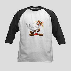 Funny Christmas Reindeer Cartoon Baseball Jersey