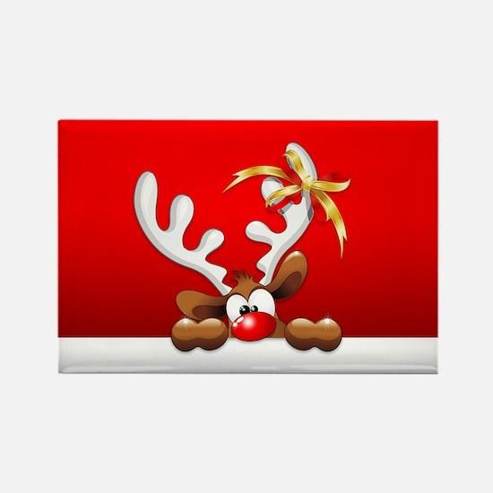 Funny Christmas Reindeer Cartoon Magnets